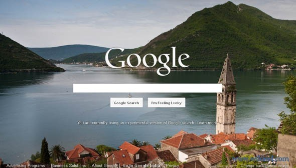 Customize Google Homepage With Background Image